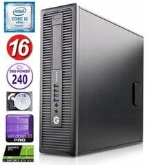 Товар с повреждённой упаковкой. HP 600 G1 SFF i5-4570 16GB 240SSD+1TB GTX1650 4GB WIN10Pro цена и информация | Товар с повреждённой упаковкой. HP 600 G1 SFF i5-4570 16GB 240SSD+1TB GTX1650 4GB WIN10Pro | pigu.lt