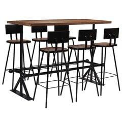 Baro baldų komplektas, Vida XL, 7 dalių, medžio masyvas kaina ir informacija | Baro baldų komplektas, Vida XL, 7 dalių, medžio masyvas | pigu.lt