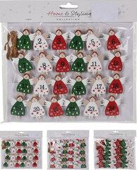 Kalėdinė dekoracija Advento kalendorius kaina ir informacija | Kalėdinė dekoracija Advento kalendorius | pigu.lt