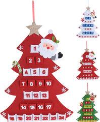 Kalėdinė dekoracija Advento kalendorius, 60 cm kaina ir informacija | Kalėdinės dekoracijos | pigu.lt