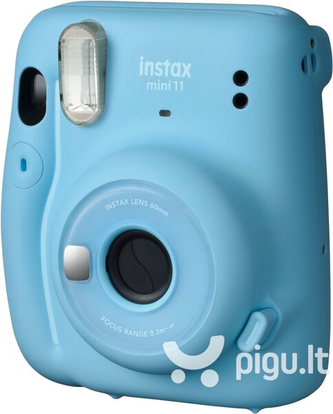 Fujifilm Instax Mini 11 (Sky Blue) + FUJIFILM Instax Mini Film (Glossy) (Color) 10 kaina