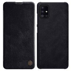 Nillkin Qin original leather dėklas skirtas Samsung Galaxy A51, Juoda kaina ir informacija | Telefono dėklai | pigu.lt