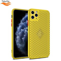 "TakeMe ""Breathing dotted"" TPU back cover case for Apple iPhone X / Xs Yellow kaina ir informacija 