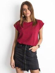 Marškinėliai moterims, bordiniai kaina ir informacija | Marškinėliai moterims | pigu.lt