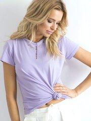 Marškinėliai moterims, violetiniai kaina ir informacija | Marškinėliai moterims | pigu.lt