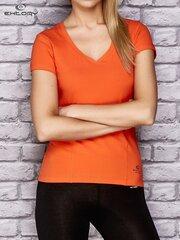 Marškinėliai, oranžiniai kaina ir informacija | Marškinėliai moterims | pigu.lt