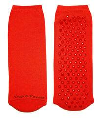 Neslystančios moteriškos kojinės, skirtos jogai ir fitnesui Weri Spezials, raudonos kaina ir informacija | Moteriškos kojinės | pigu.lt