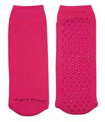 Neslystančios moteriškos kojinės, skirtos jogai ir fitnesui Weri Spezials, rožinės kaina ir informacija | Moteriškos kojinės | pigu.lt