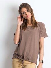Marškinėliai moterims, rudi kaina ir informacija | Marškinėliai moterims | pigu.lt