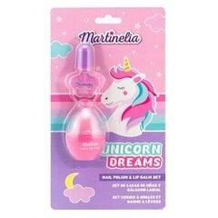 Rinkinys mergaitėms Martinelia Unicorn Dream: nagų lakas + lūpų balzamasDUO kaina ir informacija | Kosmetika vaikams ir mamoms | pigu.lt