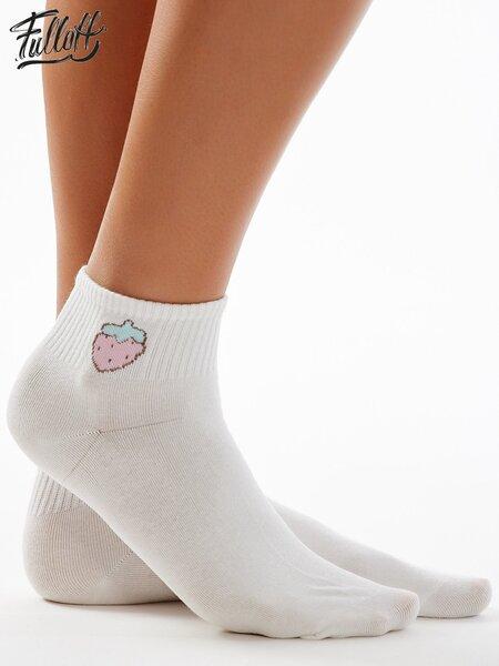 Medvilninės kojinės moterims, baltos kaina ir informacija | Pėdkelnės, kojinės moterims | pigu.lt