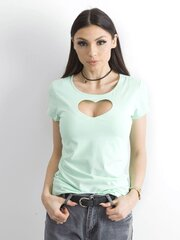 Marškinėliai moterims, mėlyni kaina ir informacija | Marškinėliai moterims | pigu.lt