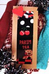 6 vyriškų medvilninių kojinių porų dovanų rinkinys Tėvo dienos proga Free Hugs kaina ir informacija | Vyriškos kojinės | pigu.lt