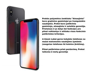 Apple iPhone X Atnaujintas, 64GB, Space Grey kaina ir informacija | Apple iPhone X Atnaujintas, 64GB, Space Grey | pigu.lt