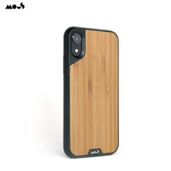 Mous Air-Shock Extreeme Protection Back Cover Case for iPhone Xr with real Bamboo element kaina ir informacija | Telefono dėklai | pigu.lt