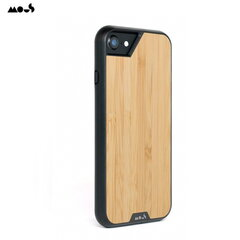Mous Air-Shock Extreeme Protection Back Cover Case for iPhone SE (2020) 6 6s 7 8 with real Bamboo element kaina ir informacija | Telefono dėklai | pigu.lt