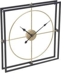 Kvadratinis juodas / auksinis 3D laikrodis 63 cm kaina ir informacija | Originalūs laikrodžiai | pigu.lt