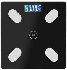 Умные весы, черного цвета,180кг цена и информация | Весы (бытовые) | pigu.lt