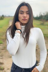 Megztinis moterims Moni & Co, baltas kaina ir informacija | Megztiniai moterims | pigu.lt