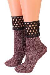 Pierre Mantoux moteriškos išskirtinės blizgios kojinės ANUBI su tinkline gumine juosta kaina ir informacija | Moteriškos kojinės | pigu.lt
