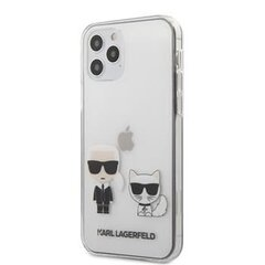 Telefono dėklas Karl Lagerfeld iPhone 12 Pro Max PC/TPU Karl & Choupette Cover Transparent kaina ir informacija | Telefono dėklas Karl Lagerfeld iPhone 12 Pro Max PC/TPU Karl & Choupette Cover Transparent | pigu.lt
