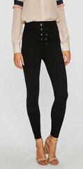Kelnės su raišteliais Guess, juodos kaina ir informacija | Kelnės moterims | pigu.lt
