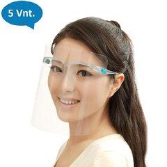 Apsauginis veido skydas akinių rėmelyje, 5 vnt. kaina ir informacija | Apsauginis veido skydas akinių rėmelyje, 5 vnt. | pigu.lt
