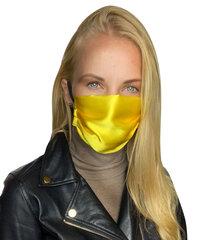 Dirbtinio šilko daugkartinio naudojimo veido kaukė, L/XL, 1 vnt. kaina ir informacija | Pirmoji pagalba | pigu.lt