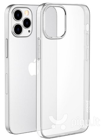 Mocco Ultra Back Case 0.3 mm Silicone Case for Apple iPhone 12 / iPhone 12 Pro Transparent kaina