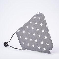 Veido kaukė su žvaigždutėmis, pilka kaina ir informacija | Pirmoji pagalba | pigu.lt