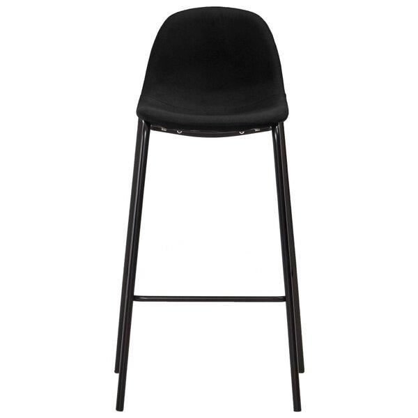 Baro baldų komplektas, 5 dalių, juodos spalvos, audinys