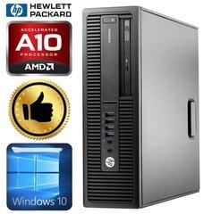 HP 705 G2 SFF A10 PRO-8750B 4GB 960SSD+2TB GT1030 2GB WIN10 kaina ir informacija | Stacionarūs kompiuteriai | pigu.lt
