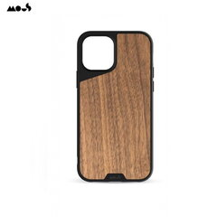 Mous Air-Shock Extreeme Protection Back Cover Case for iPhone 12 / 12 Pro with real Walnut element Black / Brūns kaina ir informacija | Telefono dėklai | pigu.lt