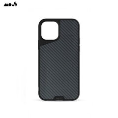 Mous Air-Shock Extreeme Protection Back Cover Case for iPhone 12 Pro Max with real Carbon Fibre element Black kaina ir informacija | Telefono dėklai | pigu.lt
