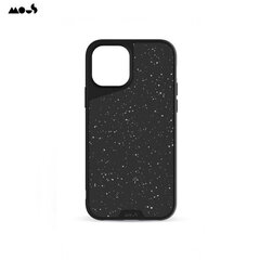 Mous Air-Shock Extreme Protection Back Cover Case for iPhone 12 Pro Max with real Speckled leather Black kaina ir informacija | Telefono dėklai | pigu.lt