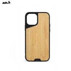 Mous Air-Shock Extreeme Protection Back Cover Case for iPhone 12 Pro Max with real Bamboo element kaina ir informacija | Telefono dėklai | pigu.lt