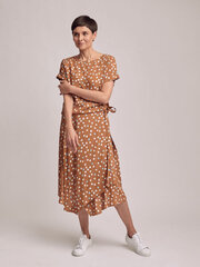 Midi ilgio sijonas, rudas kaina ir informacija | Sijonai | pigu.lt