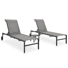 Saulės gultai su staliuku, 2vnt. цена и информация | Saulės gultai su staliuku, 2vnt. | pigu.lt