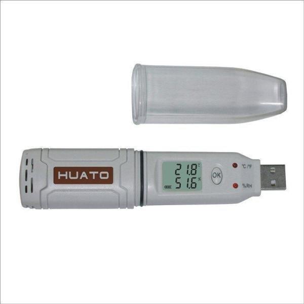 Temperatūros, drėgmės duomenų kaupiklis HUATO HE173 kaina ir informacija | Drėgmės, temperatūros, pH, ORP matuokliai | pigu.lt