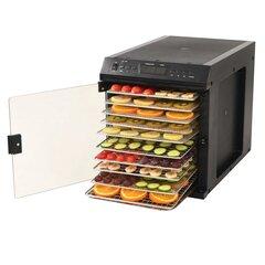 Maisto džiovyklė, 11 padėklų, 480w, juoda kaina ir informacija | Vaisių džiovintuvai, daigyklės | pigu.lt