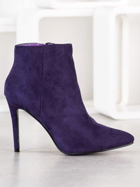 Aukštakulniai aulinukai moterims, violetiniai kaina ir informacija | Aulinukai, ilgaauliai batai moterims | pigu.lt