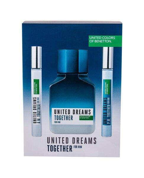 Tualetinis vanduo Benetton United Dreams Together EDT vyrams 100+10+10 ml kaina ir informacija | Kvepalai vyrams | pigu.lt