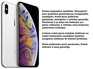 Apple iPhone X 64 GB, Silver kaina ir informacija | Apple iPhone X 64 GB, Silver | pigu.lt