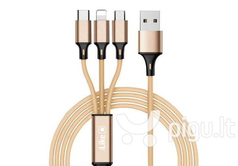 ILike Charging Cable 3 in 1 CCI02, USB, 1.2 m