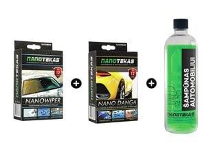 Nano danga stiklams + nano danga kėbului + nano šampūnas kaina ir informacija | Nano danga stiklams + nano danga kėbului + nano šampūnas | pigu.lt