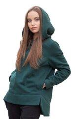 Džemperis su gobtuvu moterims Jakas, žalias kaina ir informacija | Džemperiai moterims | pigu.lt