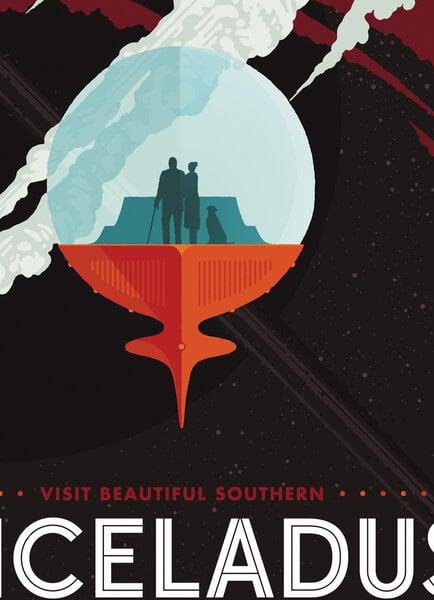 Keturių plakatų rinkinys Kosminės kelionės kaina