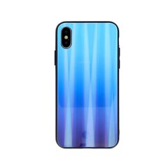 Mocco Aurora Glass Back Case for Apple iPhone X / XS Blue kaina ir informacija | Telefono dėklai | pigu.lt