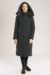 Ilga, įliemenuota striukė moterims, žalia kaina ir informacija | Striukės moterims | pigu.lt