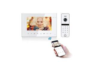 Vaizdo telefonspynės komplektas VID-714Wi-Fi+VID-D3Code (W) kaina ir informacija | Domofonai | pigu.lt